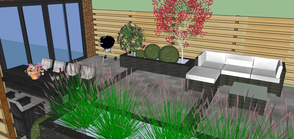 3d tuinontwerp jonk sierbestrating edam almere for Tuin 3d ontwerpen