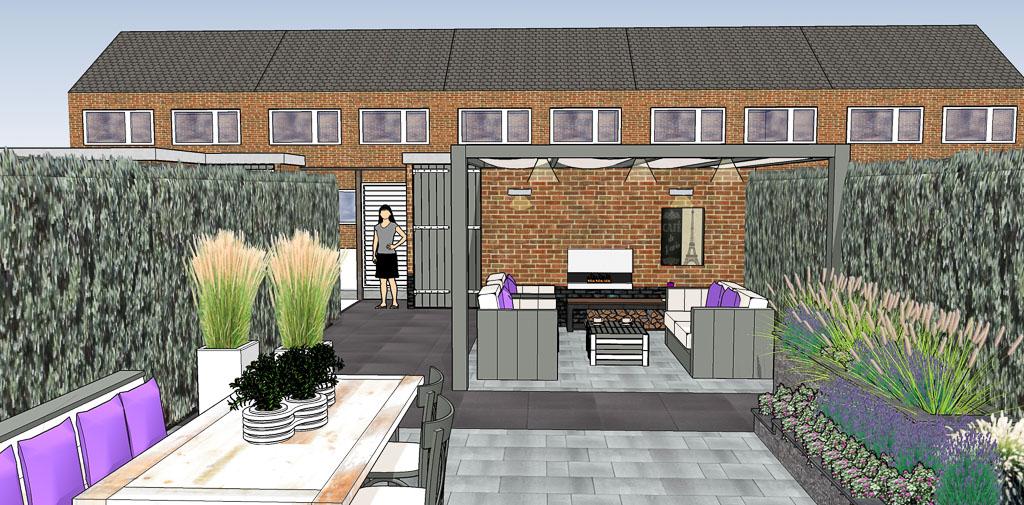 3d tuinontwerp sierbestrating jonk b v for 3d tuin ontwerpen