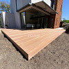 Hardhouten Vlonderplank 2,5x14,5 cm 1 zijde glad, 1 zijde anti-slip profiel