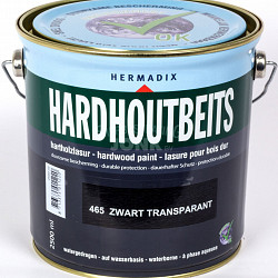 Hardhoutbeits 465 Zwart Transparant - 2500ml